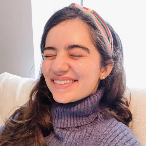 girl wearing headband