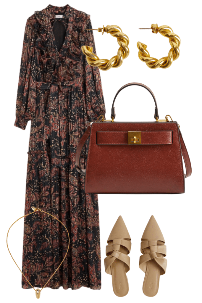 fall wedding guest outfit