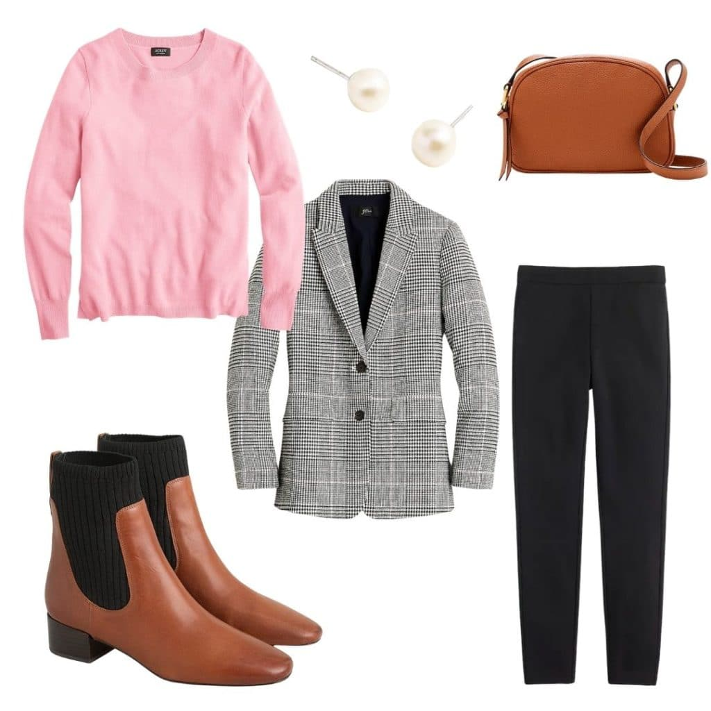 casual preppy outfit with blazer