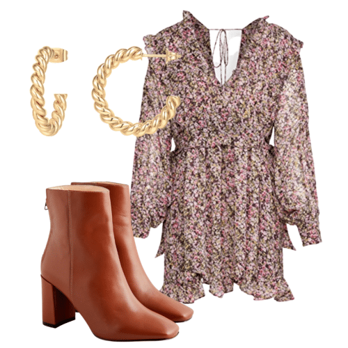 fall floral outfit
