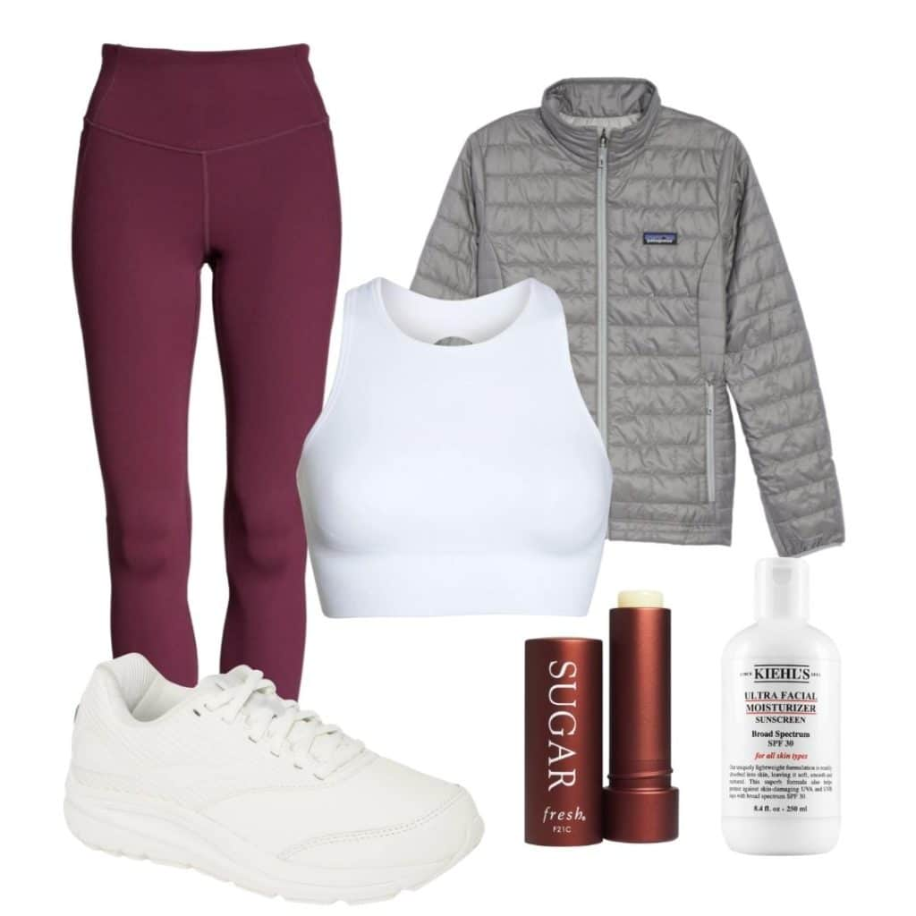 fall workout outfit