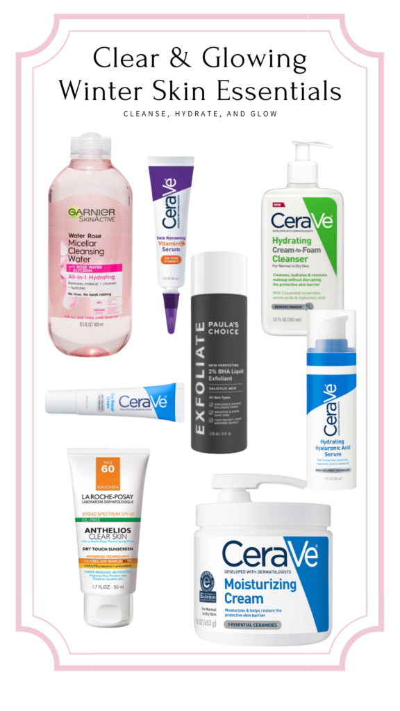 clear & glowing skincare products