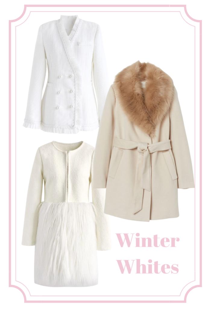 winter white statement coats