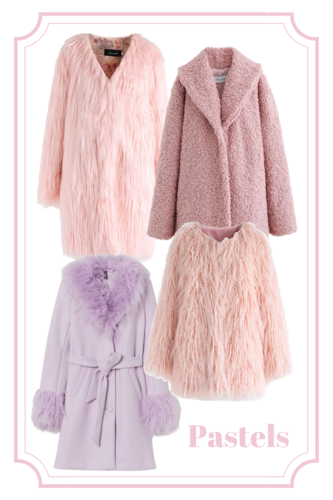 pastel and pink statement coats