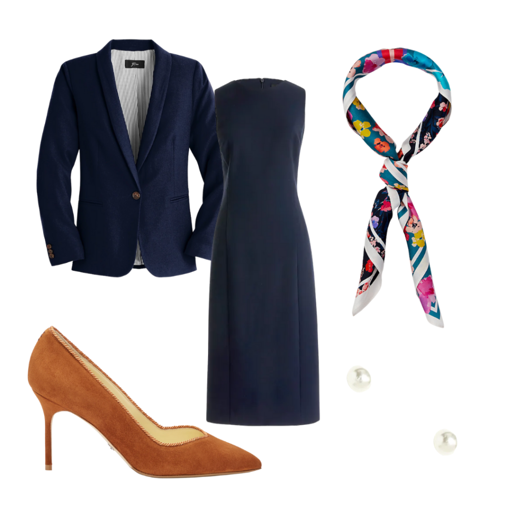 navy job interview outfit