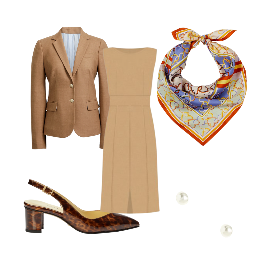 neutral job interview outfit