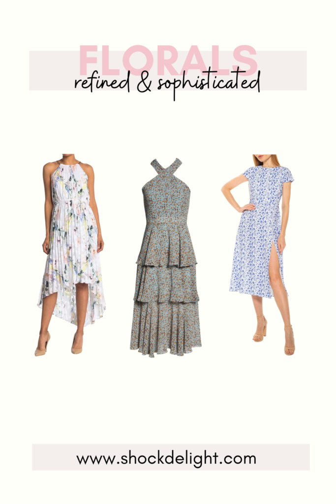 These dresses are perfect for Easter or summer wedding guest dresses!