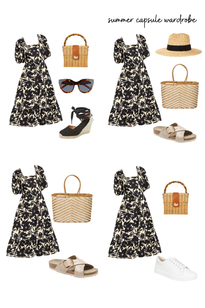 summer outfit ideas - summer capsule wardrobe essentials for events, weddings, and casual days