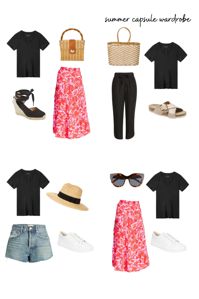summer capsule wardrobe outfit inspiration